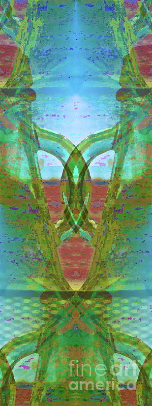 Abstract Poster featuring the photograph True Form by Gwyn Newcombe