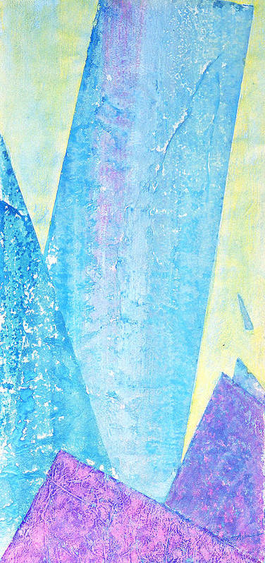 Abstract Painting Poster featuring the painting Crashing Waves And Rocks by Asha Carolyn Young