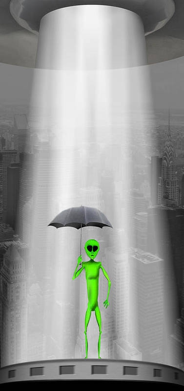 Surrealism Poster featuring the photograph No Intelligent Life Here by Mike McGlothlen