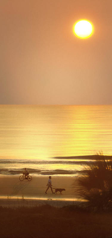 North Carolina Sunrise Poster featuring the photograph Sunrise At Topsail Island Panoramic by Mike McGlothlen
