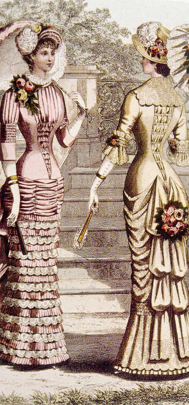1880s Fashion Poster featuring the photograph Womens Fashion, Circa 1880s by Everett
