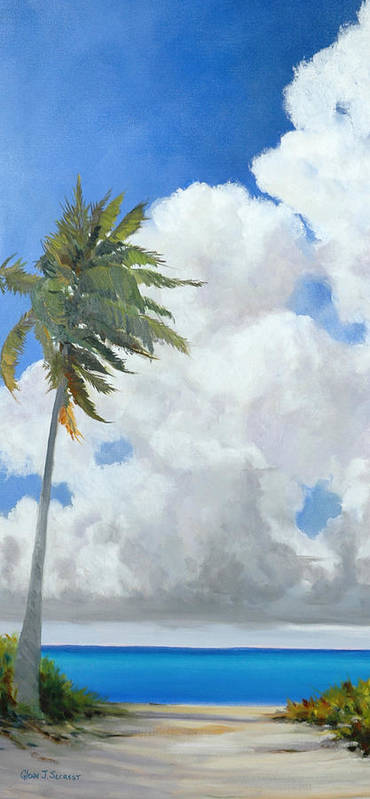 Landscape Poster featuring the painting A Perfect Day by Glenn Secrest
