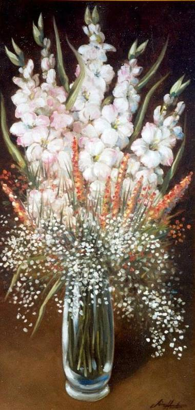 Flowers Poster featuring the painting Flower Arrangment by Jim Horton