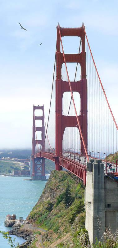 Landmarks Poster featuring the photograph Golden Gate Bridge by Mike McGlothlen
