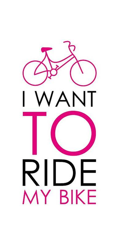 I Want To Ride My Bike Poster featuring the digital art I Want To Ride My Bike by Magdalena Raszewska