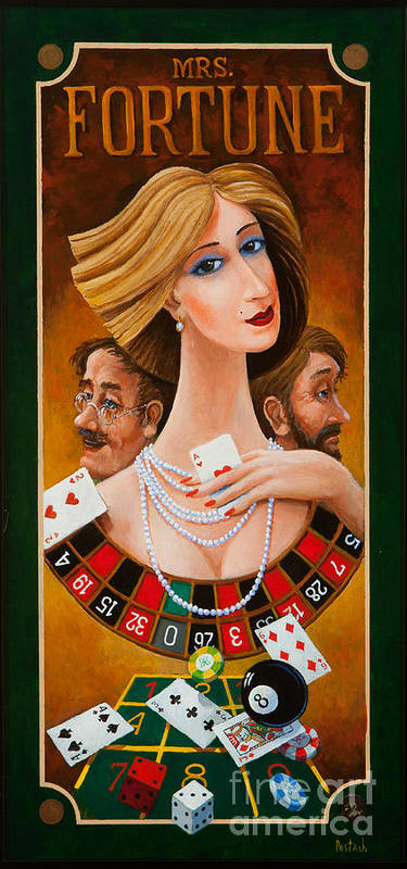 Colorful Paintings Poster featuring the painting Mrs Fortune by Igor Postash