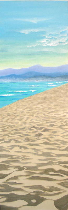 Landscape Poster featuring the painting Oxnard Shores by Illona Battaglia Aguayo