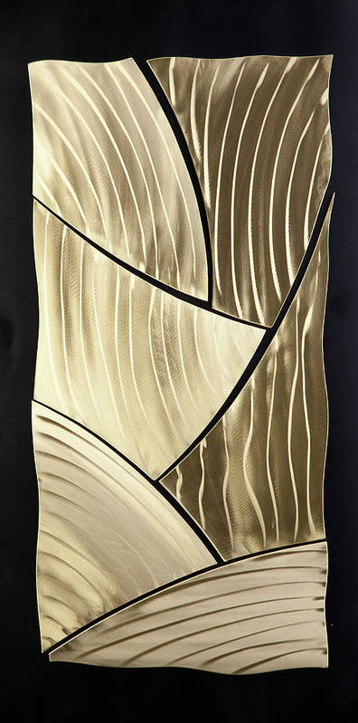 Abstract Poster featuring the sculpture Broken Gold by Rick Roth