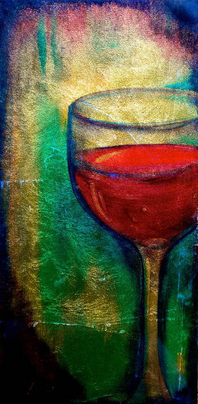 Wine Poster featuring the painting One More Glass by Debi Starr