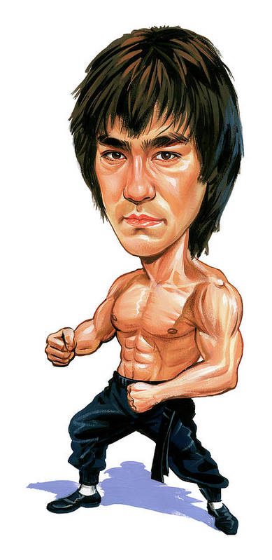 Bruce Lee Poster featuring the painting Bruce Lee by Art