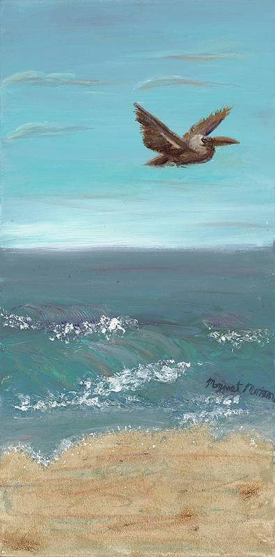 Bird Poster featuring the painting Flying Solo by Maggie Morrison