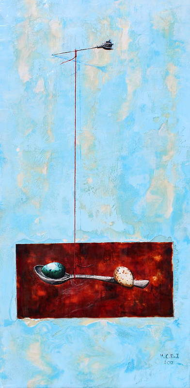 Eggs Poster featuring the painting Full Of Wish by Mary C Farrenkopf