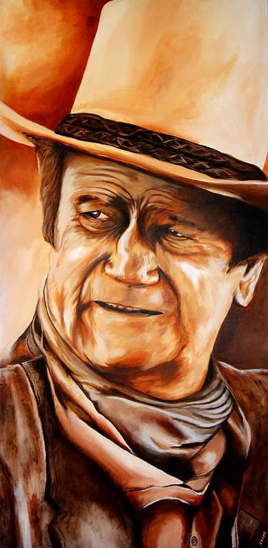 John Poster featuring the painting John Wayne by Jake Stapleton