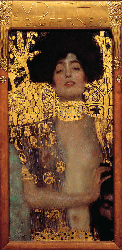 Gustive Klimt Poster featuring the digital art Judith by Gustive Klimt