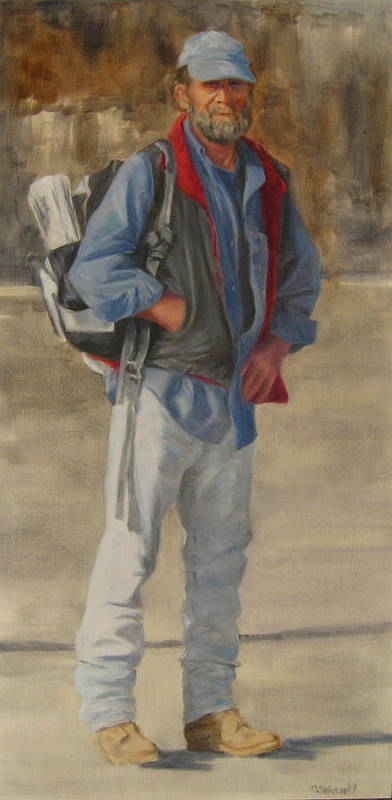 Figurative Poster featuring the painting Necessities by Connie Schaertl