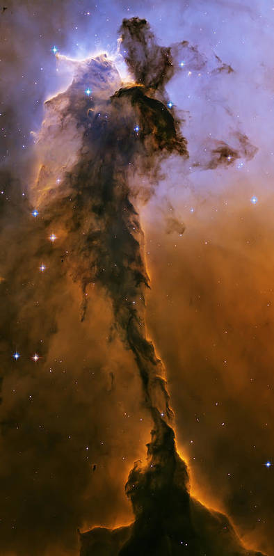 3scape Photos Poster featuring the photograph Stellar Spire In The Eagle Nebula by Adam Romanowicz