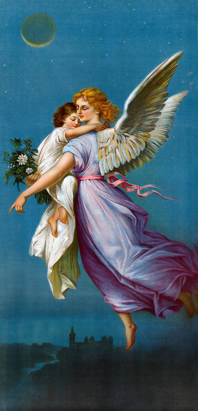 The Angel Of Peace Poster featuring the digital art The Angel Of Peace by B T Babbitt