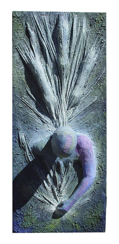Rosemary Poster featuring the painting Point Of Ignition by Rosemary Wessel