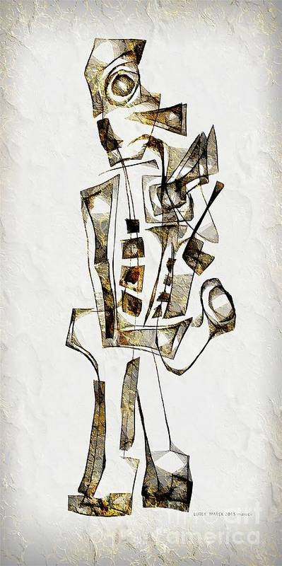 Abstraction Poster featuring the digital art Abstraction 2842 by Marek Lutek