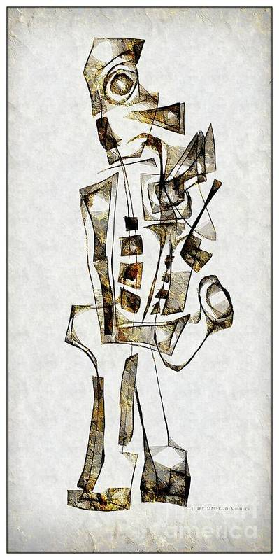 Abstraction Poster featuring the digital art Abstraction 2843 by Marek Lutek