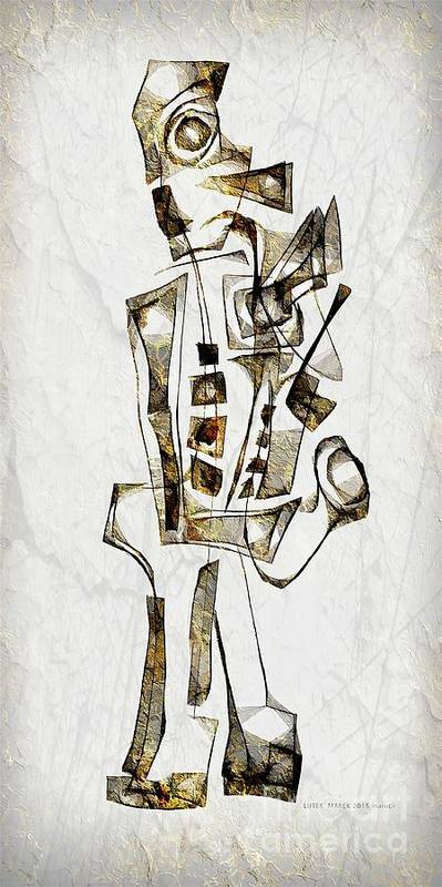 Abstraction Poster featuring the digital art Abstraction 2844 by Marek Lutek