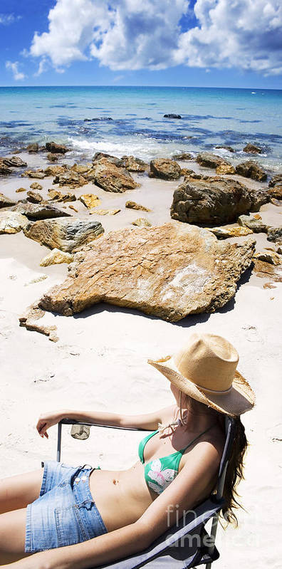 Island Poster featuring the photograph Beach Woman by Jorgo Photography - Wall Art Gallery