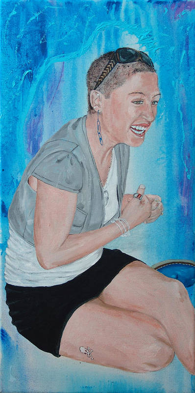 Kevin Callahan Woman Poster featuring the painting Blue Money by Kevin Callahan