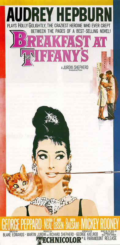 Audrey Hepburn Poster featuring the photograph Breakfast At Tiffany's by Georgia Fowler