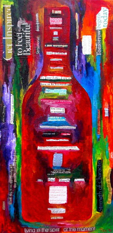 Wine Poster featuring the painting Choose Strength by Patti Schermerhorn