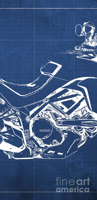 Ducati multistrada 1200 blueprint 2 of 3 poster by drawspots ducati poster featuring the digital art ducati multistrada 1200 blueprint 2 of 3 by drawspots malvernweather Image collections