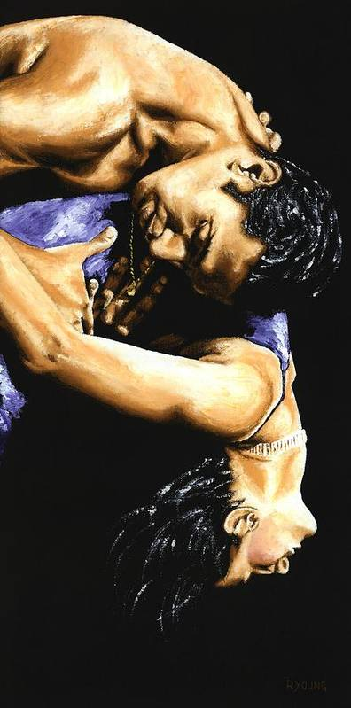 Male Poster featuring the painting Emotional Tango by Richard Young