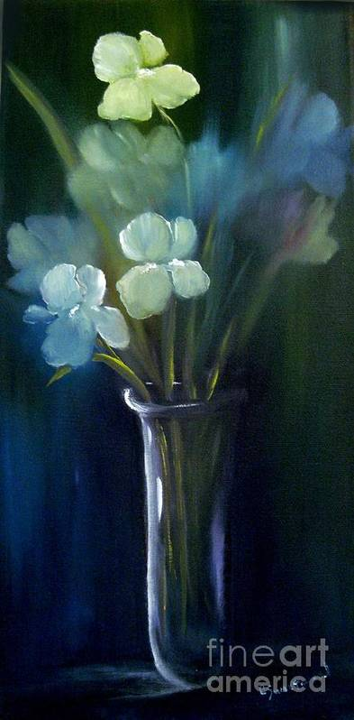 Iris Poster featuring the painting Fading Memories by Carol Sweetwood