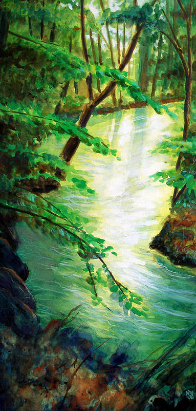 Forest Poster featuring the painting Fairfax Summer by Ken Meyer