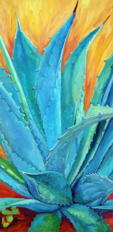 Agave Poster featuring the painting Fire And Ice 2 by Athena Mantle