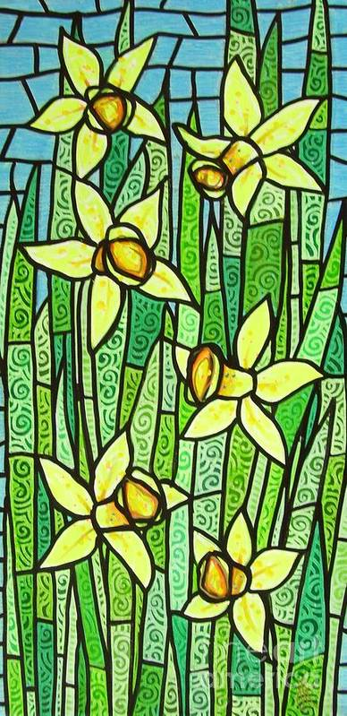 Jonquils Poster featuring the painting Jonquil Glory by Jim Harris