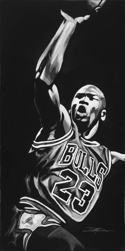 2836d662f9456e Jordan Poster featuring the drawing Michael Jordan by Don Medina