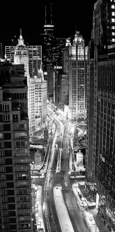 Vertical Poster featuring the photograph Michigan Avenue by George Imrie Photography