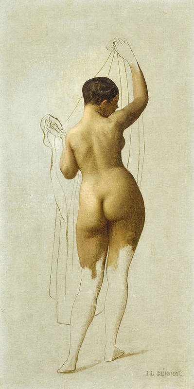 Jean-leon Gerome Poster featuring the painting Nude. Queen Rodophe by Jean-Leon Gerome