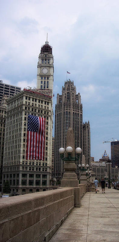 Chicago Poster featuring the photograph Patriotic View by Donna Blackhall