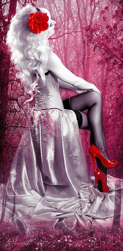 Model Poster featuring the digital art Pink by Svetlana Sewell