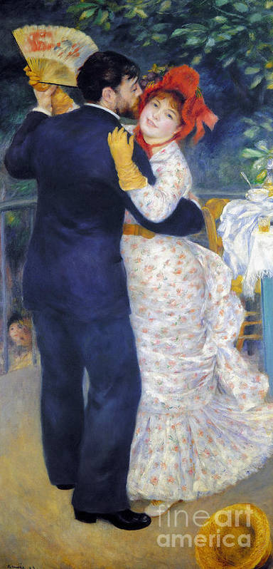 1883 Poster featuring the photograph Renoir: Dancing, 1883 by Granger