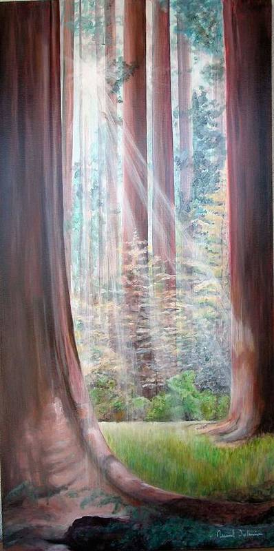 Landscape Poster featuring the painting Sequoia by Muriel Dolemieux