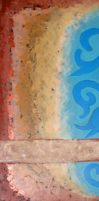 Abstract Poster featuring the painting Steppe Oasis by Aliza Souleyeva-Alexander