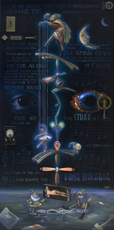 Ballet Poster featuring the painting The Danse Macabre by Patrick Anthony Pierson
