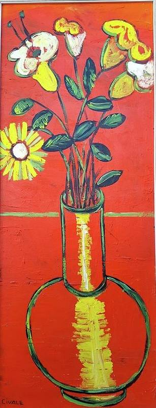 Flowers Poster featuring the painting Lido flower by Biagio Civale