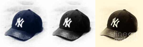Yankee Cap Poster featuring the photograph Yankees by John Rizzuto