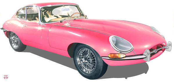 Car Posters Poster featuring the digital art Beauty In Pink by Jose Gomis