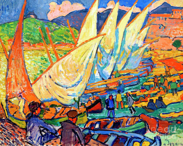Fishing Boats, Collioure by Peter Barritt