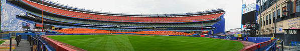 Panoramic Poster featuring the photograph Shea Stadium Pano by Dennis Clark