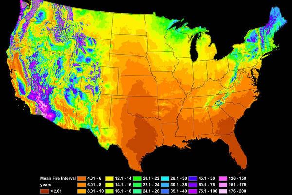 Wildfire Frequency by Bill Gabbert